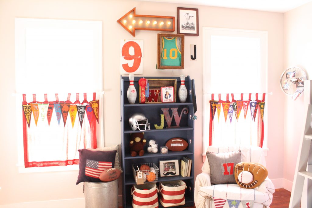 sport themed boys bedroom