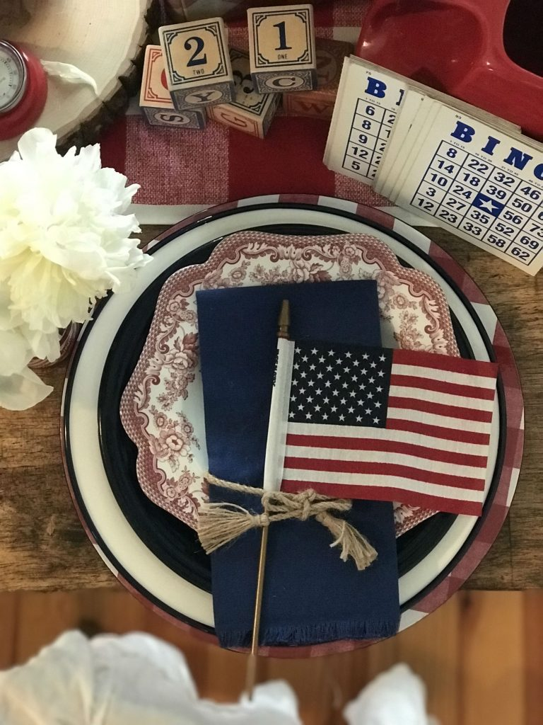 Dallas interior designer vintage fourth of july party ideas