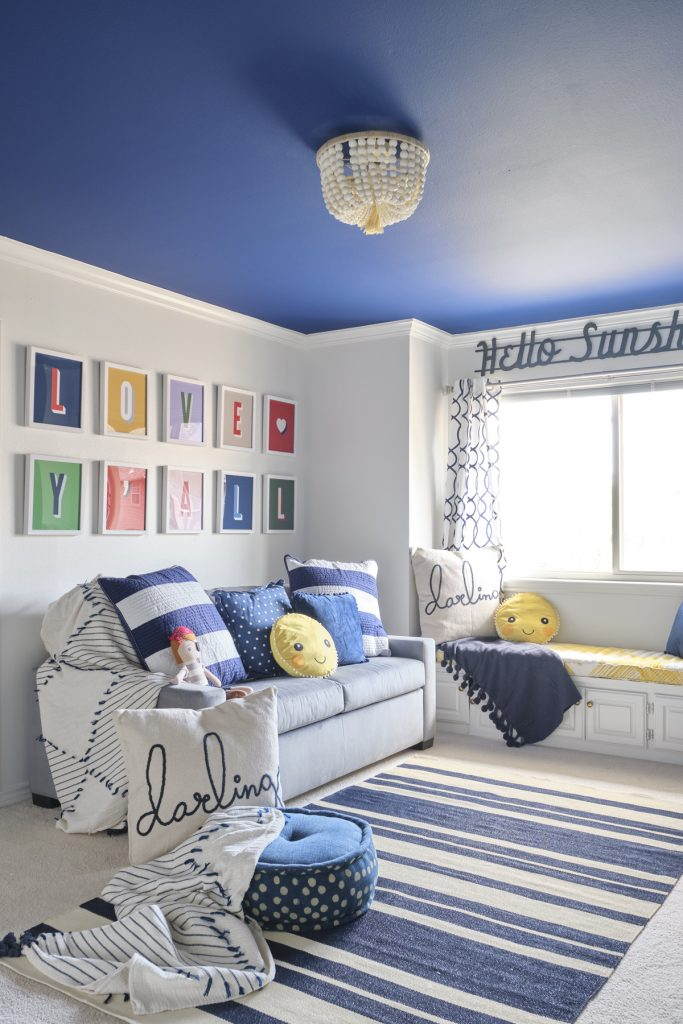 dallas designer gender neutral playroom bedroom