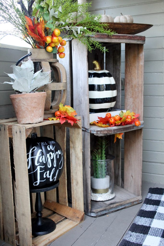 courtney warren fall porch black and white